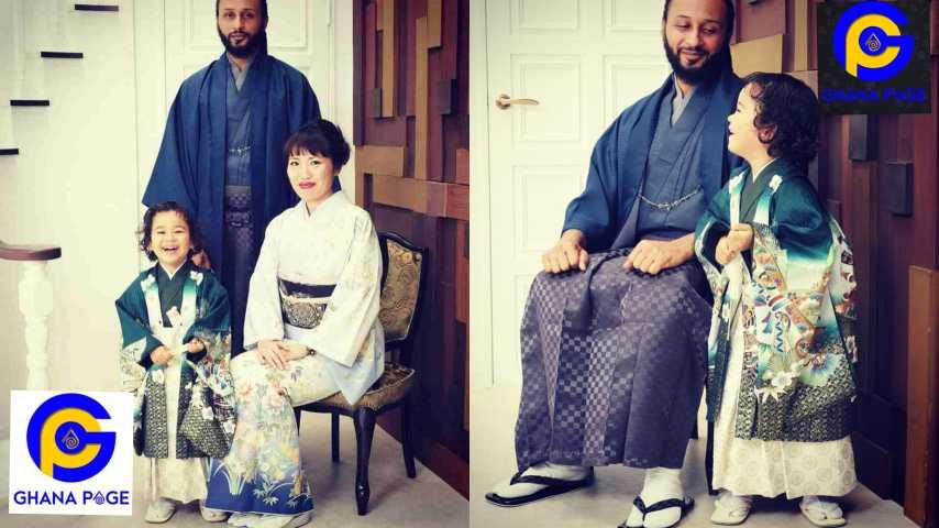 Wanlov shares photos of  his beautiful Japanese baby mama and daughter