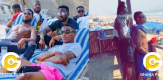 Omar Sterling chills with D'banj and Wizkid in Ghana