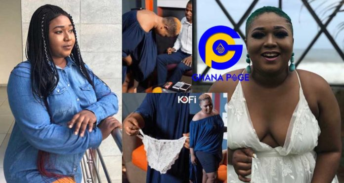 Video of Ghanaian actress, Xandy Kamel removing her white Big Pioto on live TV goes viral [Watch]