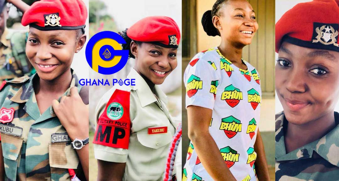 Photos of beautiful female Ghanaian military officer who is also a Bhim Nation fan goes viral [See]