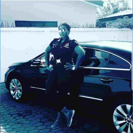 Yvonne Yaa Obrebea Appiah posing with a car