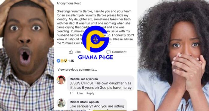 My husband sleeps with our 6yrs daughter-Ghanaian woman