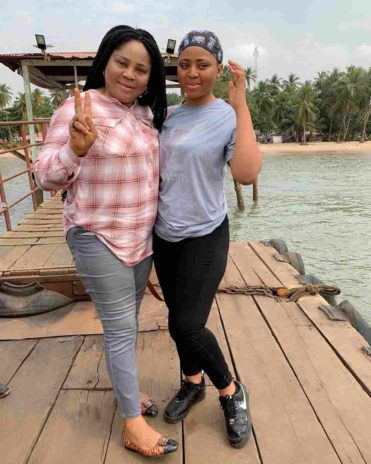 Regina Daniels and mother