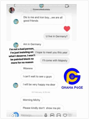 shatta michy leak chat with ThoseCalledCelebs screenshot