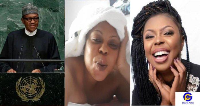 Buhari looks sick, don't vote for him – Afia Schwarzenegger begs Nigerians