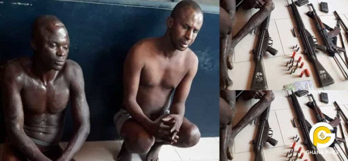 Armed robbers beat up soldiers and a policeman; seize their guns