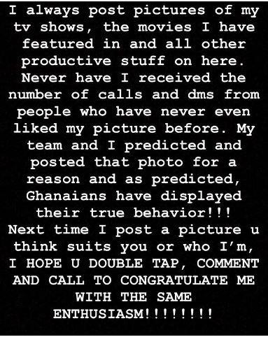 I intentionally posted my raw picture to test Ghanaians - GHOne Presenter