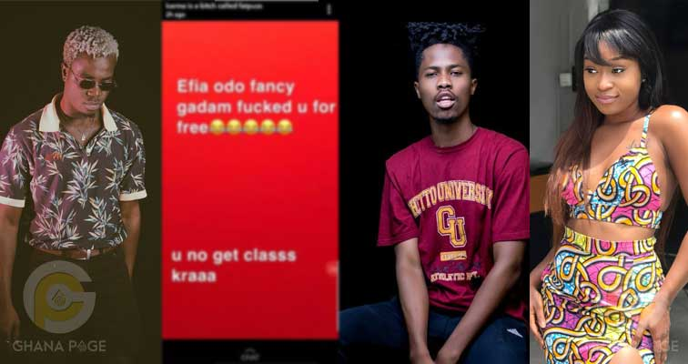 List of male celebrities who have allegedly chopped Efia Odo pops up
