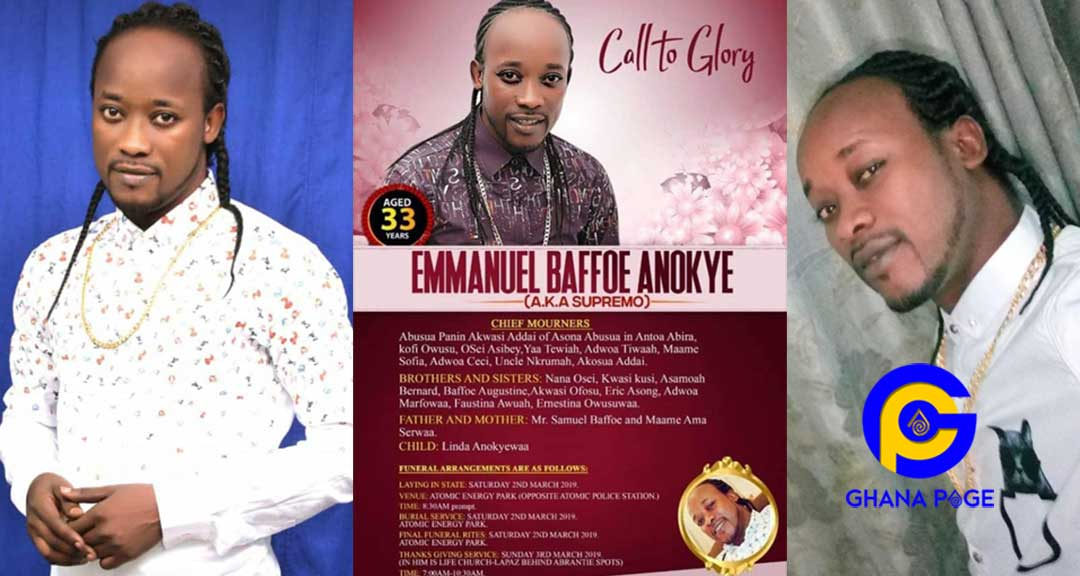 Funeral poster of Anokye Supremo aka Lumba jnr released-Here is all you need to know