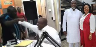Video: Hopeson Adorye hits Kwaku Boahen's chest on live radio-threatesn to beat him