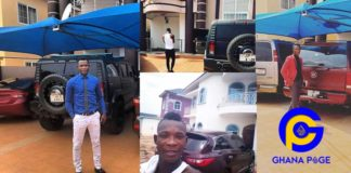Photos & video of John Paintsil's beautiful mansion filled with luxury cars will blow your mind