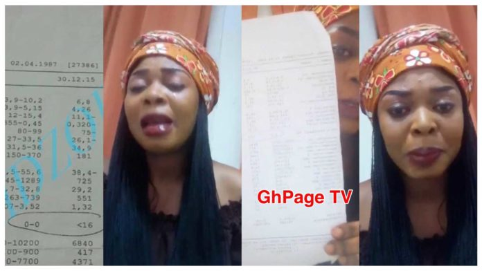 Video:Joyce Dzidzor Mensah finally publishes her HIV test result to prove herself to Ghanaians