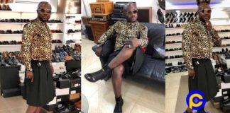 Photos: Nana Aba Anamoah's baby daddy Osebo breaks the internet with his skirt and shirt top dress