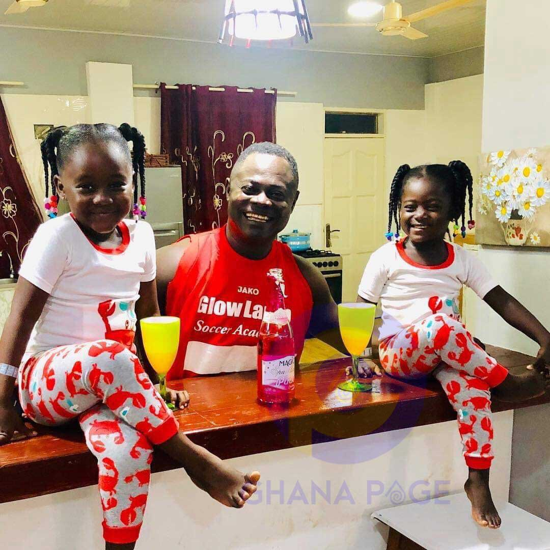 Odartey Lamptey and his twins