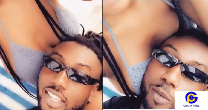 Pappy Kojo's girlfriend massages his head with her 'cute' b00bs