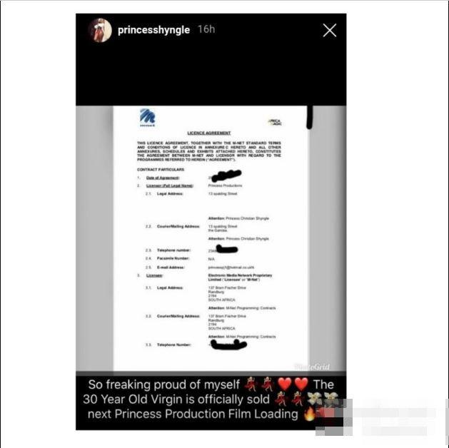 Princess Shyngle speaks of her million naira DSTV deal to shame all critics