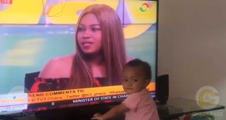 Yvonne Nelson's daughter's priceless reaction upon seeing her mum on TV