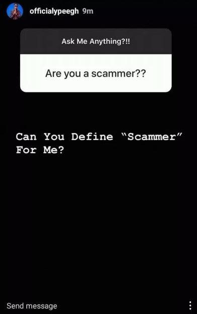 Ypee Baakop3 trolls a fan who asked him whether he is a 'Scammer'