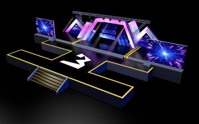 3 Music Awards Set Design 696x435 - This is how 3 Music awards stage would look like on Saturday