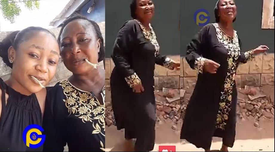Akuapem Poloo and Mother - Akuapem Poloo's mother jams to her daughter's latest single