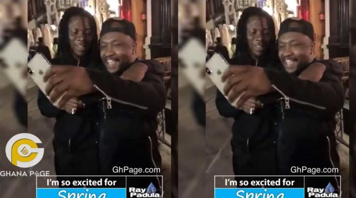 Archipalago and Stonebwoy 696x387 - Archipalago hangs out with Stonebwoy in USA