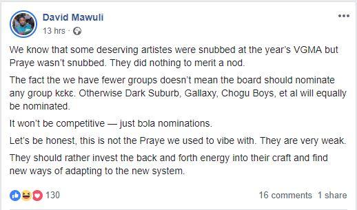David Mawuli - You don't even deserve a VGMA nomination – David Mawuli fires Praye