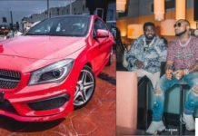 Davido buys his personal assistant Lati a Mercedez Benz