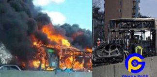 Italy: Driver hijacks school bus with 49 kids, 2 teachers and sets it ablaze