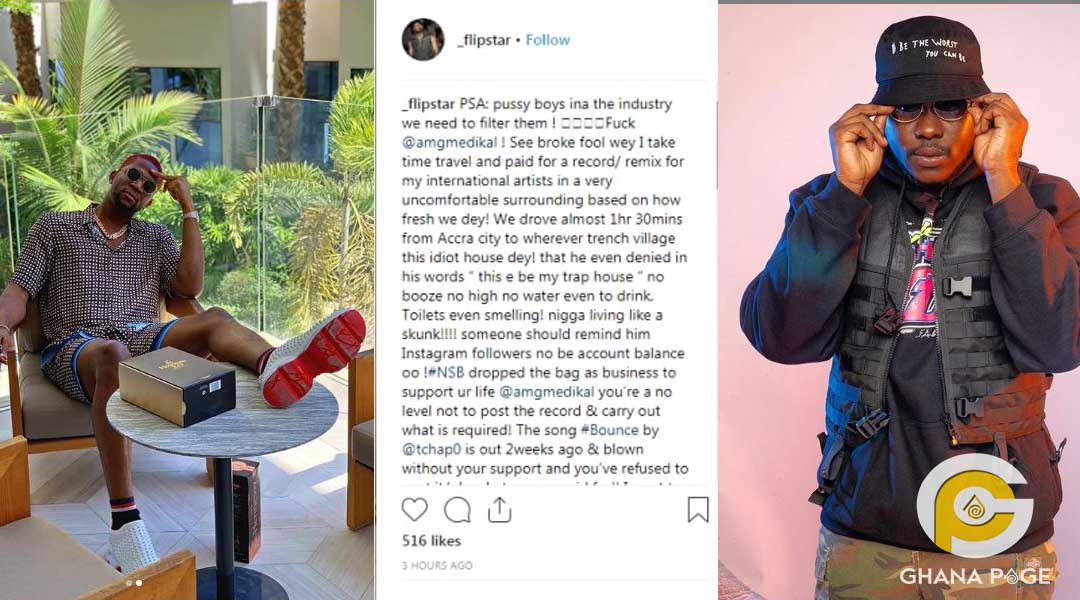 Flipstar and Medikal - Medikal's best friend & business partner attacks him for selling him out