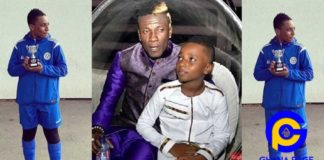 Asamoah Gyan's first son wins first trophy with his football team in UK
