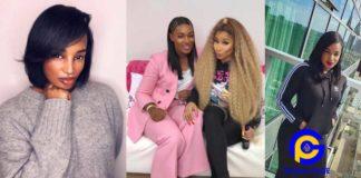 Nicki Minaj on tour with Ghanaian musician, Nana Fofie - heaps praises on her talents [Photos]