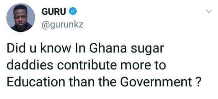 Guru sugar daddies 696x317 - Sugar daddies in Ghana contribute more to the educational system than Government – Guru