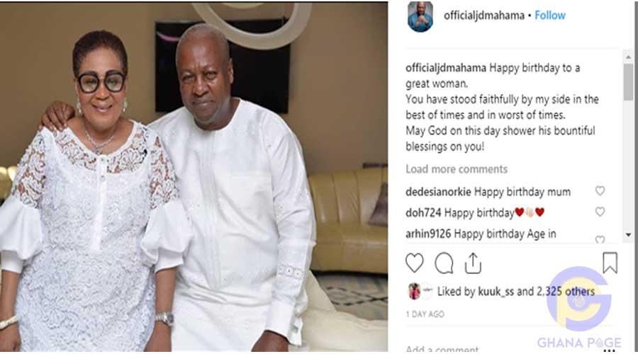 JOHN MAHAMA LORDINA - John Mahama celebrates wife on 56th birthday