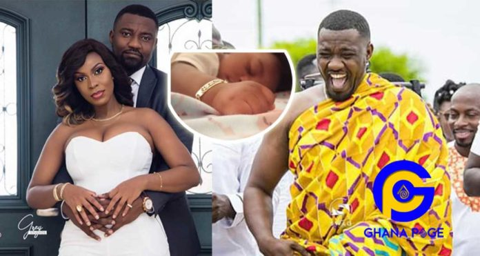 Finally, John Dumelo shows his son's face for the first to his fans-His is super cute [Photos]