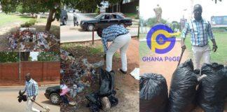 CTV morning show host, Kwame Tutu breaks the internet with his #trashtagchallenge [Photos]