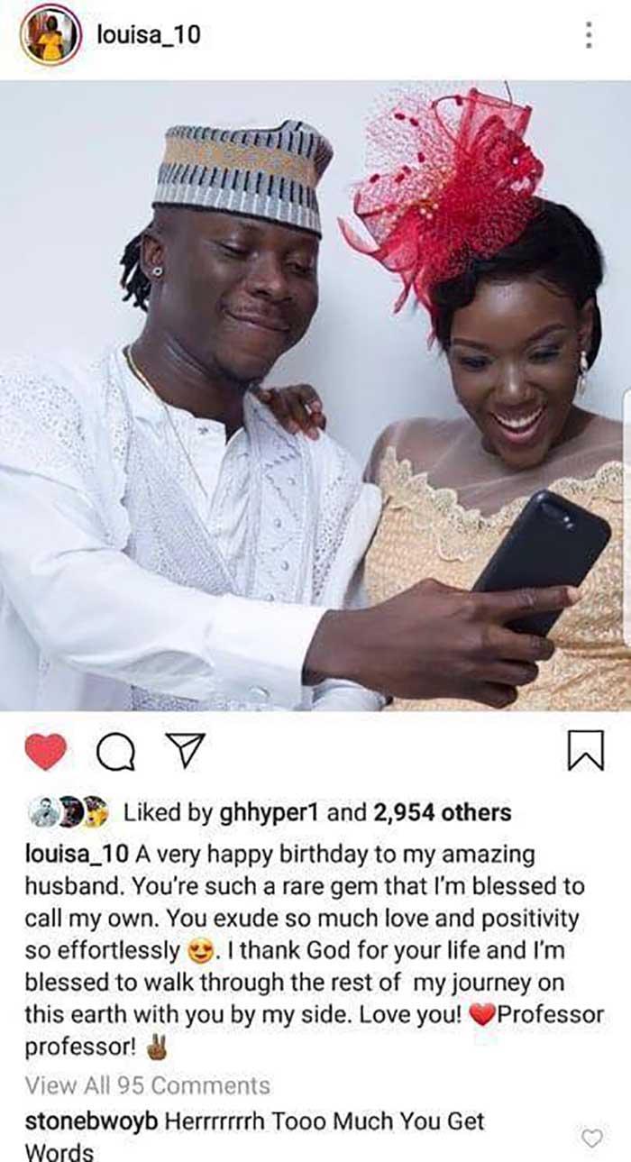 Louisa Birthday Message stonebwoy - Sweet birthday message from Louisa to Stonebwoy that melt his heart