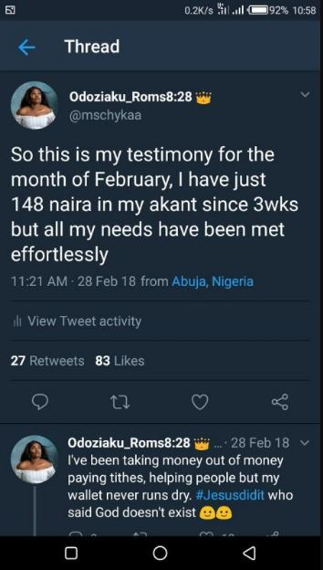 Nigerian Lady falls in love with guy who asked her for money on Twitter