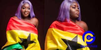 Photos: Patriotic Maame Serwaa rocks Ghana flag to celebrate Independence Day and it's soo cute