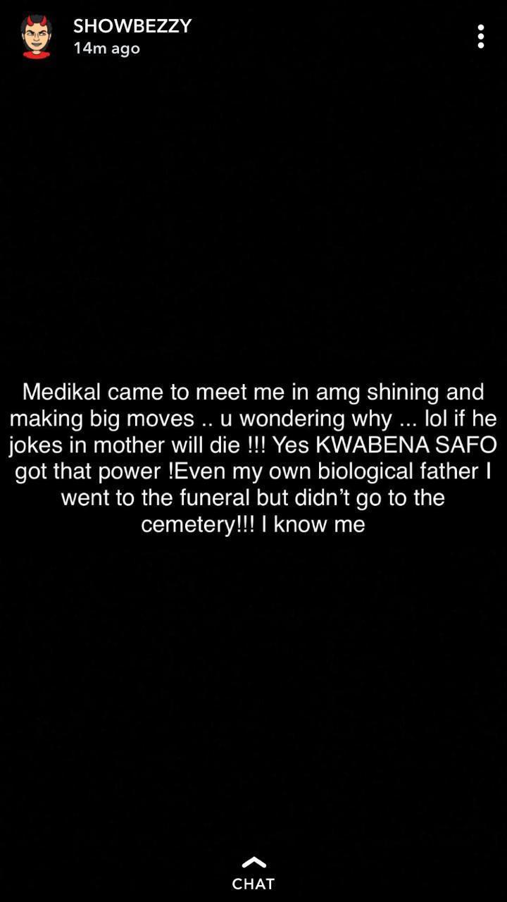 Medikal showboy - I once bought accident for Medikal – Showboy reveals