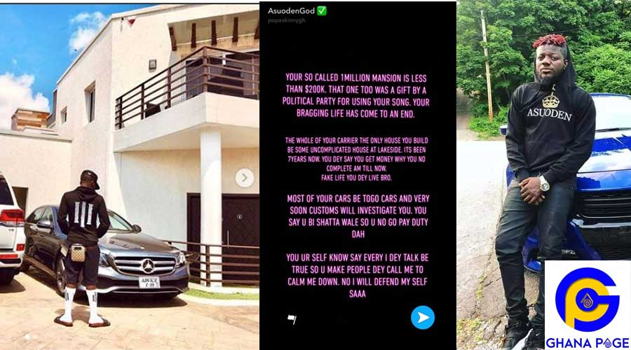 POPE SKINNY SHATTA WALE MANSION - Shatta Wale's mansion doesn't cost $1M but $200k -Pope Skinny