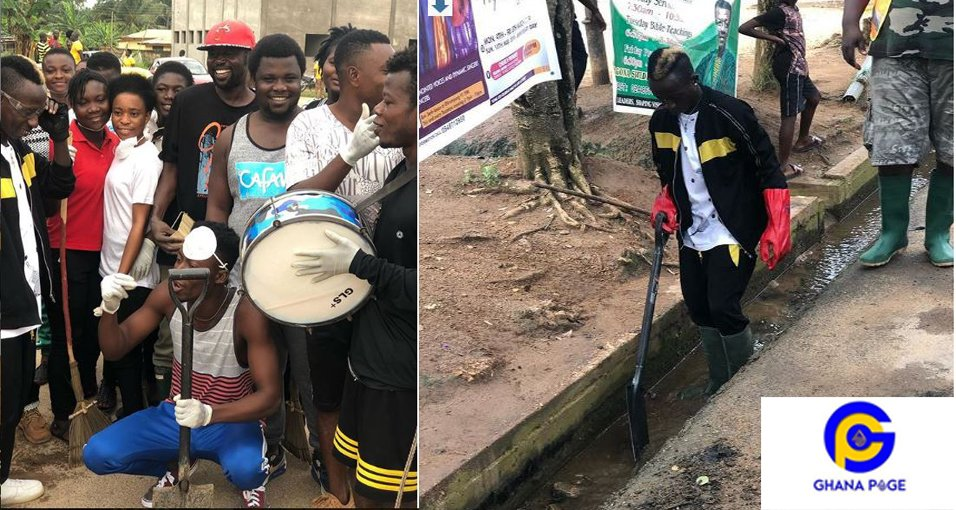 Patapaa cleanup2 - Patapaa joins his community members to do clean-up exercise