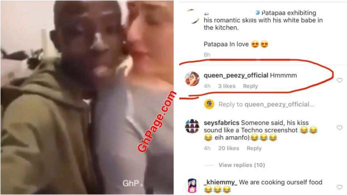 Patapeezy 696x392 - Queen Peezy heartbroken after video of Patapaa kissing white lady popped up