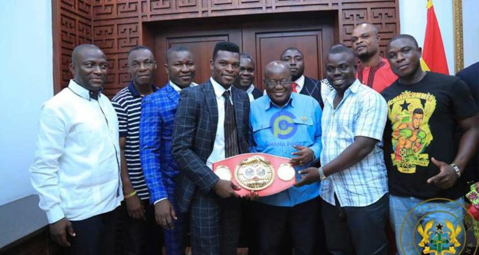 Photos: Akufo-Addo gifts Richard Commey Toyota and GH¢50,000 for winning IBF world title