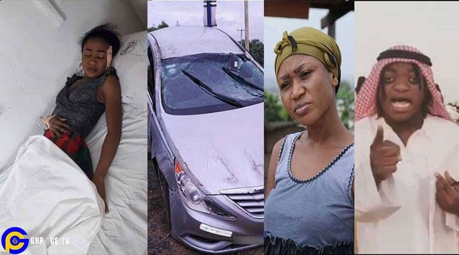 SUMSUM POLOO ACCIDENT - Sumsum Ahuofe calls out Akuapem Poloo for faking her accident