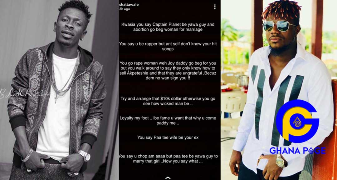 Shatta Wale exposes Pope Skinny 0 - Shatta Wale drops every filla Pope Skinny has ever shared with him online