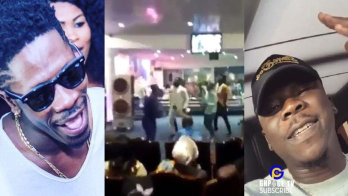 "Stonebwoy Shatta Wale Kpoo K3k3 696x392 - Stonebwoy reacts to video of church members jamming to his ""Kpoo K3k3"" song"