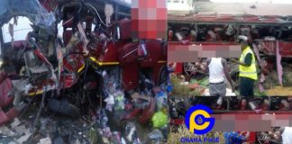 Just In: Over 70 people dead in a VVIP bus crash on Tamale-Kintampo road [Photos]