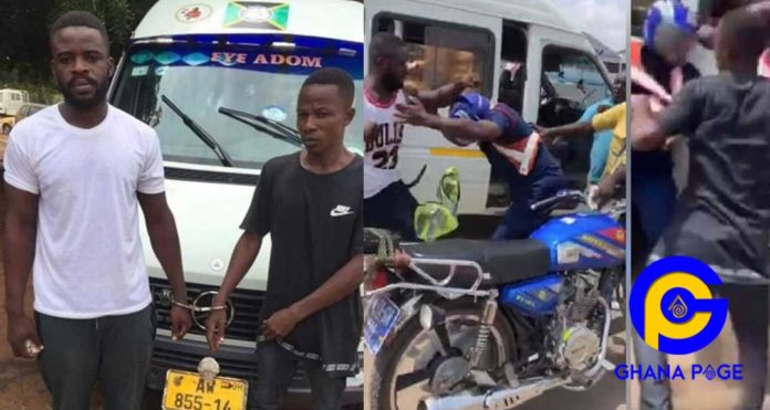 Photos of the driver and mate who brutally assaulted the police officer in the viral video [SEE]