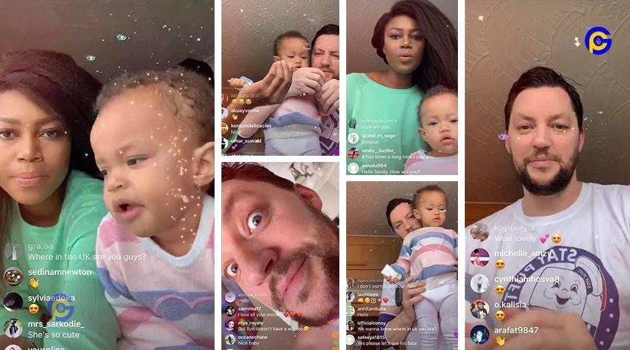 Yvonne Nelson spends time with daughter and baby daddy in UK