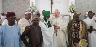 Chief Imam spotted in church ahead of his 100th birthday